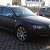 CarWrap Audi S6 do black mat